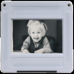 Kleinbild-Dia mit Kindermotiv