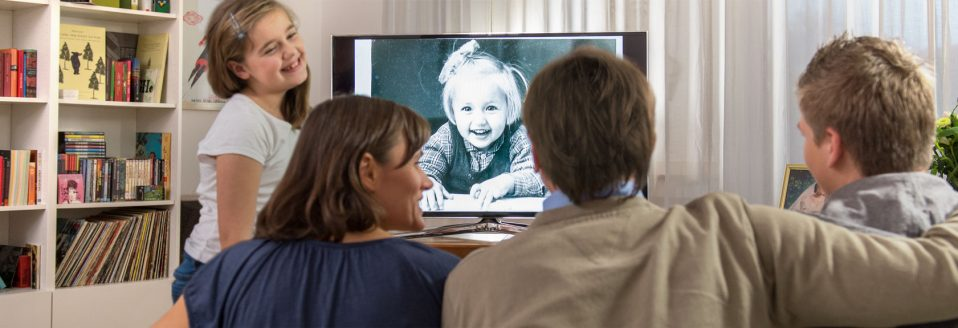 Digitalisierte Fotos auf dem TV ansehen