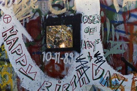 Graffiti auf der Mauer